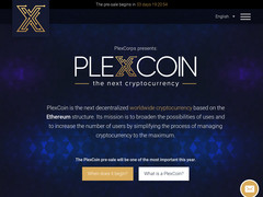 Screenshot plexcoin
