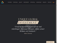 Screenshot unique global investment