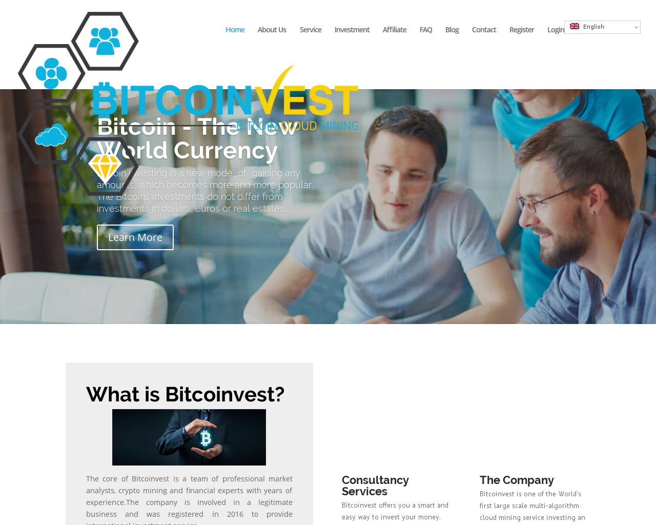 Screenshot bitcoinvest