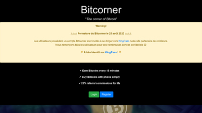 Screenshot bitcorner