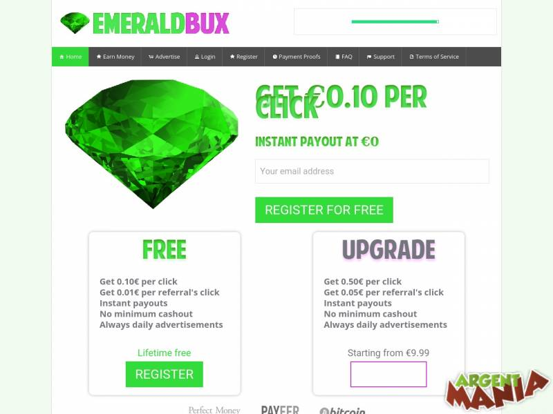 Screenshot emeraldbux.com