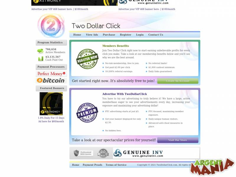 Screenshot two dollar click