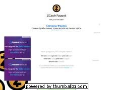 Screenshot zcashfaucet.info