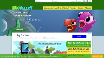 Screenshot zoovalley.fr