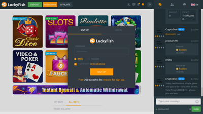 Screenshot luckyfish