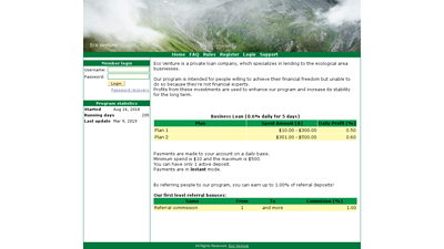 Screenshot eco venture