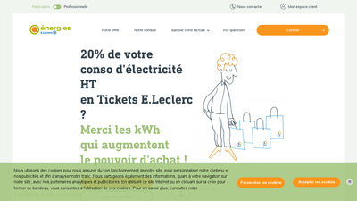 Screenshot leclerc energie