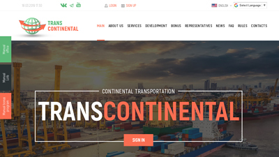 Screenshot trans continental
