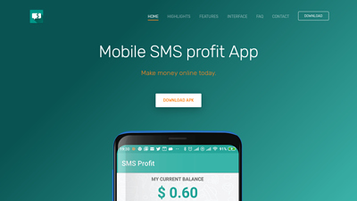 Screenshot sms profit