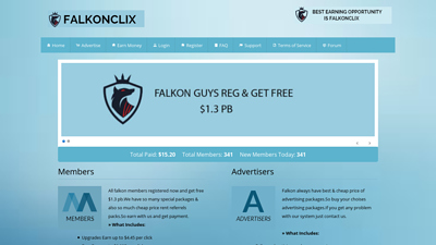 Screenshot falkonclix