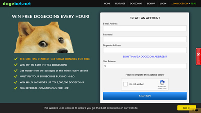 Screenshot dogebet