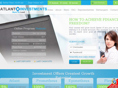 Screenshot atlant investments