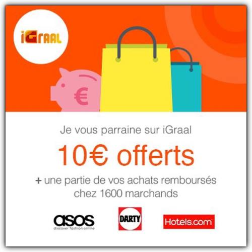 Image 10 euros de bonus sur IGraal à l'inscription !