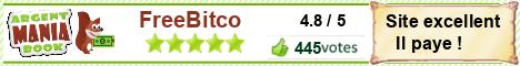 Votez pour FreeBitco pour gagner de l'argent